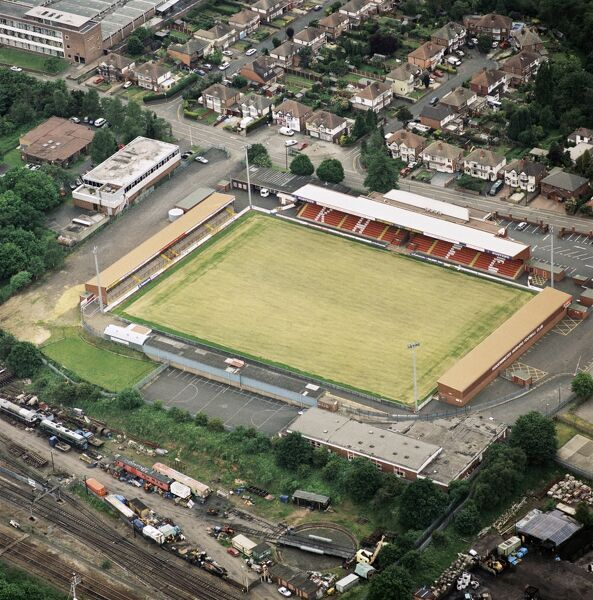 AGGBOROUGH, Kidderminster. Home of Kidderminster Harriers Football Club. Photographed in May 2000. Aerofilms Collection (see Links)