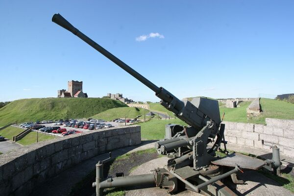anti aircraft gun dover castle n060651