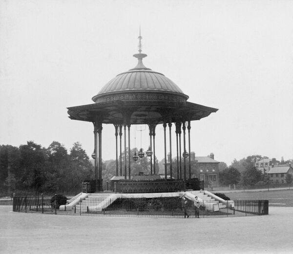 Peckham Rye Common, Southwark, London. The Bandstand, viewed from the north. Photographed between 1862 and 1890