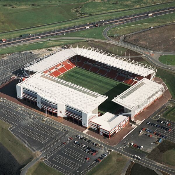 BRITANNIA STADIUM, Stoke-on-Trent. Aerial view of the home of Stoke City FC since 1997. Photographed in 1998. Aerofilms Collection (see Links)
