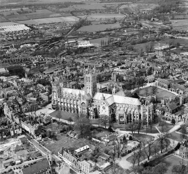 canterbury cathedral afl03_aerofilms_a4809