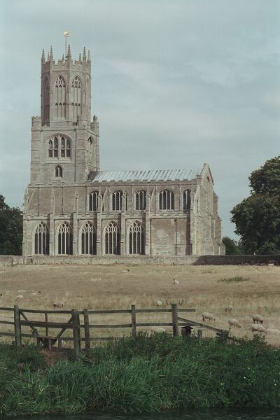 Magnificent grade I listed church at Fotheringhay, Northamptonshire. IoE 232628
