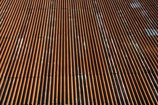 Detail of corrugated iron roof
