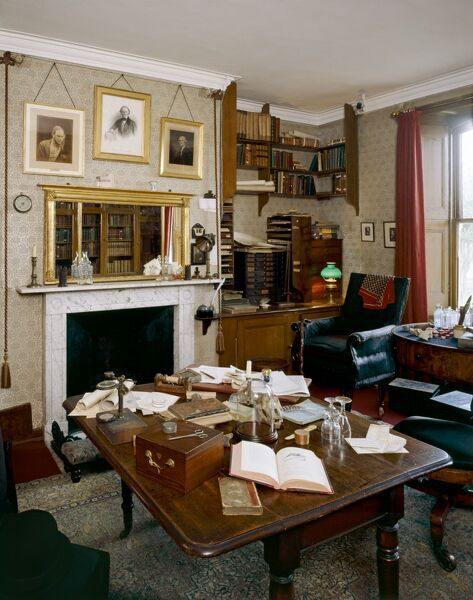 DOWN HOUSE, Downe, Kent. Interior view of the Old Study