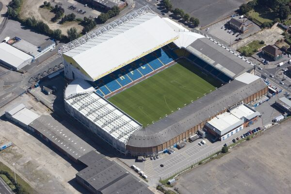 ELLAND ROAD STADIUM, Leeds. Aerial view. Home of Leeds United Football Club. Photographed in August 2007
