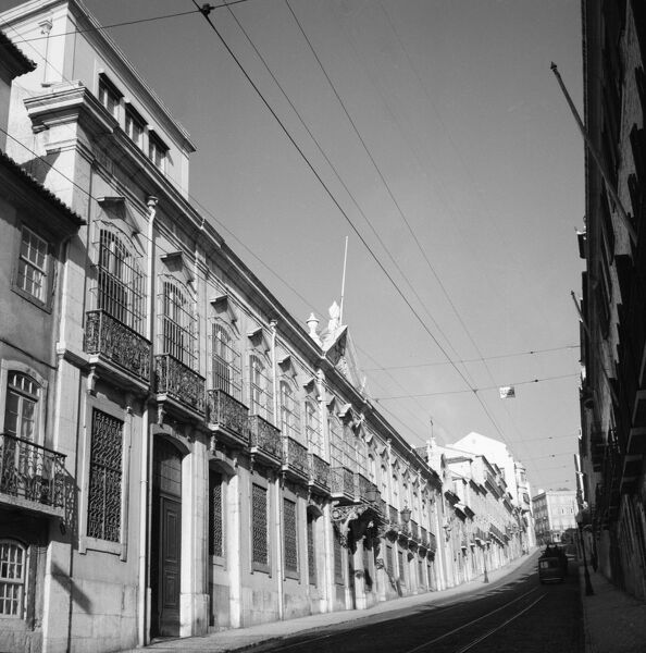 British Embassy Offices, Rue Sao Domingo, Lisbon, Portugal. Photographed in 1954
