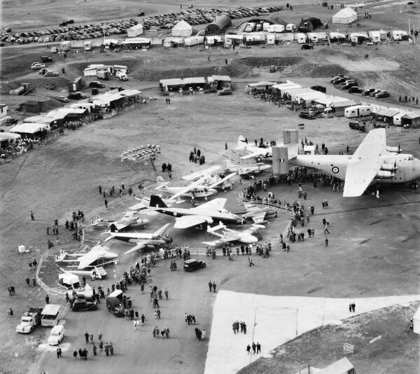 Various aircraft on display in the Static Park for the Farnborough Air Show, 5th September 1952. Farnborough, Hampshire
