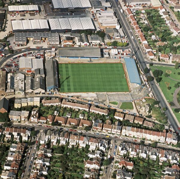 GOLDSTONE GROUND, Brighton. The former home of Brighton and Hove Albion Football Club. The Seagulls moved out in 1997. This photograph was taken in September 1992. Aerofilms Collection (see Links)