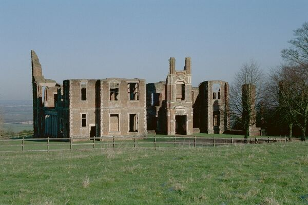 Ruins of the great house in Bedfordshire built by John Thorpe in 1615 and altered by Inigo Jones in 1620. IoE 37310