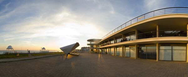DE LA WARR PAVILION, Bexhill on Sea, East Sussex. Panoramic view taken from the south east