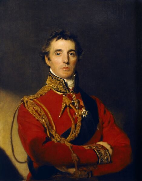 "APSLEY HOUSE, London. "" Arthur Wellesley, First Duke of Wellington "" portrait by Sir Thomas Lawrence (1769-1830)"