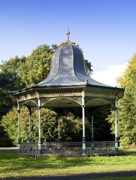 Leazes Park or Exhibition Park, Newcastle Upon Tyne. View of the bandstand from the south-east. Photographed in 2008
