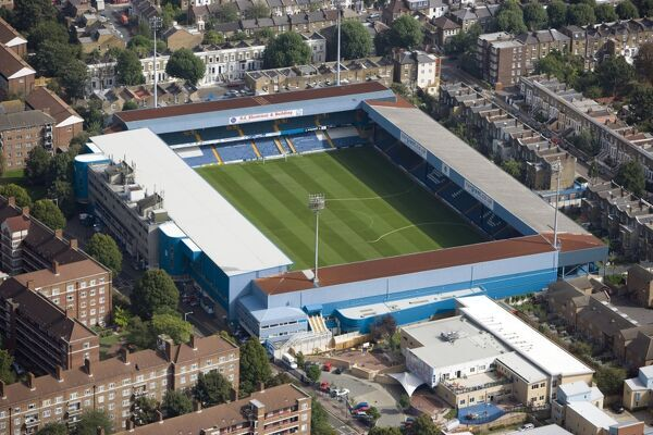 LOFTUS ROAD STADIUM, Shepherds Bush, London. Aerial view. Home of Queens Park Rangers Football Club. QPR. Photographed in September 2006