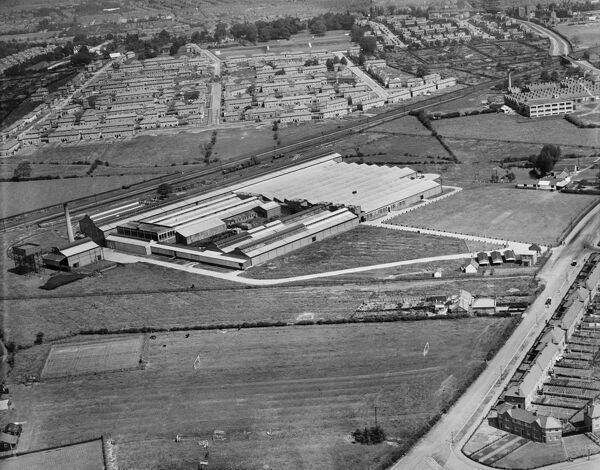 The Macintosh Cable Co Works, Sinfin, Derby. Photographed by Aerofilms Ltd in June 1933
