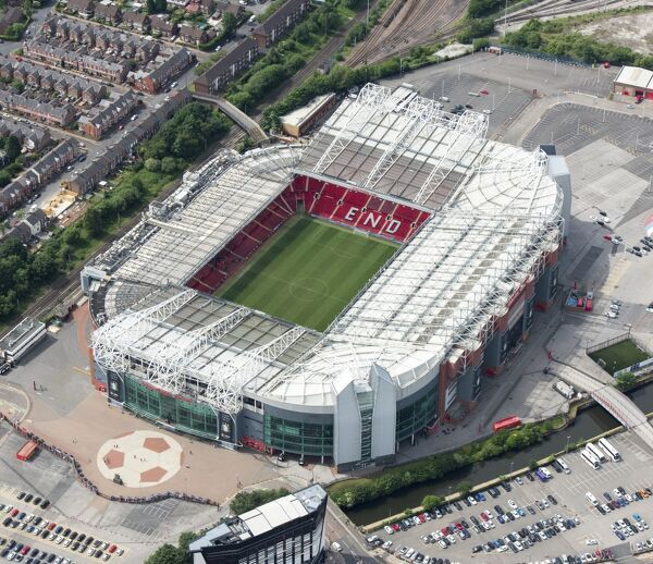 OLD TRAFFORD, Greater Manchester. Aerial view 2017. Stadium home of Manchester United Football Club