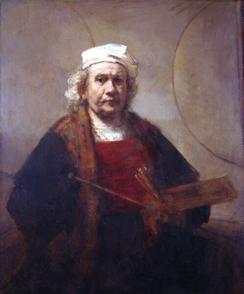 "KENWOOD HOUSE, THE IVEAGH BEQUEST, London. "" Self-Portrait "" c.1665 by REMBRANDT, van Rijn (1606-1669)"