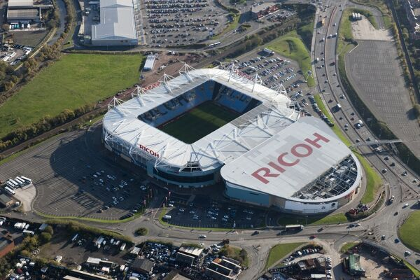 The Ricoh Arena, Coventry. Home of Coventry City Football Club and Wasps Rugby Club. The adjoining Exhibition Hall makes this a multi-purpose venue. Photographed in November 2014