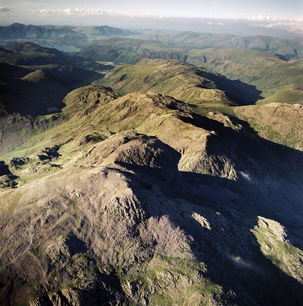 SCAFELL, Cumbria. Aerial photograph showing Scafell Pikes and the Lake District. Aerofilms Collection (see Links)