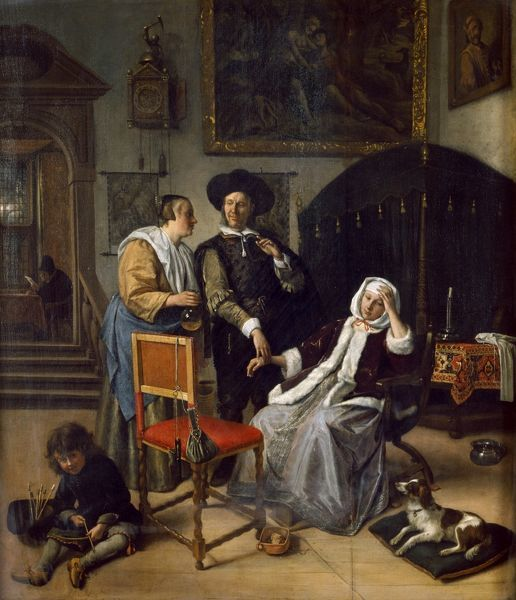 "APSLEY HOUSE, London. "" The Physician's Visit "" 1658-62 by Jan STEEN (1625/6-79). Sometimes known as 'The Doctor's Visit&#39"