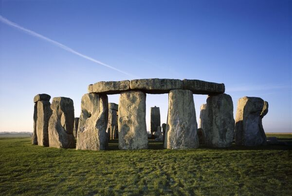 STONEHENGE, Wiltshire. View from the North East at sunrise