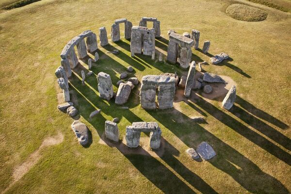 STONEHENGE, Wiltshire. Aerial view