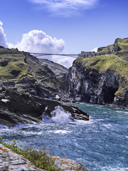 Tintagel Castle, Cornwall. General view of the site