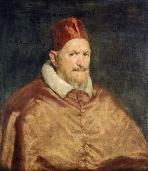 "APSLEY HOUSE, London. "" Pope Innocent X "" c1650 ascribed to Diego da Silva VELAZQUEZ (1599-1660)"