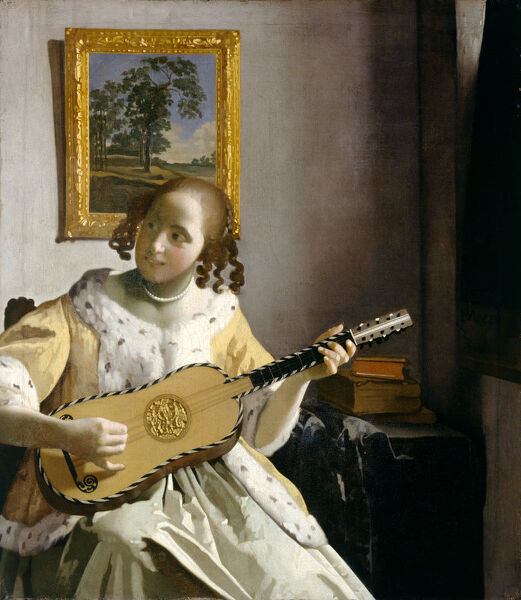 "KENWOOD HOUSE, THE IVEAGH BEQUEST, London. "" The Guitar Player "" by VERMEER, Jan (1632-75)"
