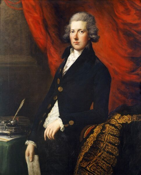 "KENWOOD HOUSE, THE IVEAGH BEQUEST, London "" William Pitt the Younger "" c1788. Attributed to GAINSBOROUGH Thomas (1727-88)"
