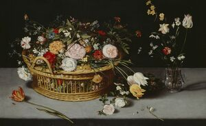 Breughel - Still Life with basket & vase of flowers K980338