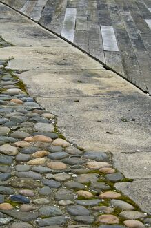 Cobbles, concrete and boarding DP073752