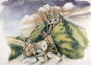 Cynric fighting the Britons at Old Sarum in 552 AD J030101