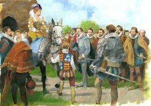 Elizabeth I being welcomed to Kenilworth Castle N090094