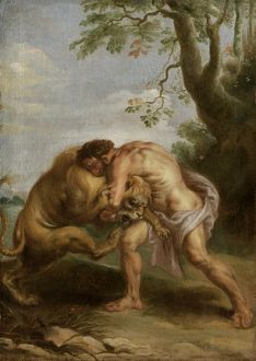 Hercules and the Nemean Lion N090615