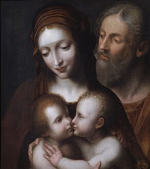 The Holy Family with the infant St John N070577
