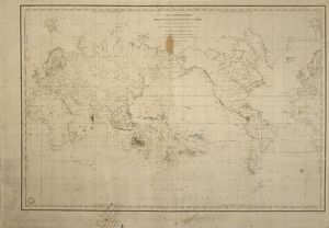 Map of the world with annotations by Darwin J970111