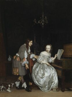 Metsu - A Gentleman and a Lady at a Virginal K010543