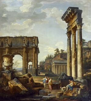 Panini - Roman Landscape with the Arch of Constantine J920081