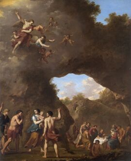 Poelenburgh - Angels guiding Shepherds to the Nativity N070552