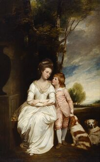 Romney - Anne Countess of Albemarle and Her Son J910502