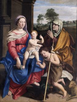 Salvi - Virgin and child with St Elizabeth &... St John N070567