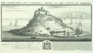 St Michael's Mount engraving N070782
