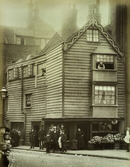 Timber boarded house, City of London 1884 BL05123