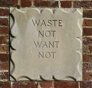 Waste not want not DP139382