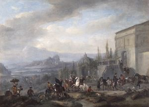 Wouwerman - The Departure of a Hawking Party N070656