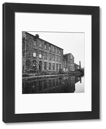 Airedale Mills, Crossflatts, Bingley, Bradford, viewed across the Leeds and Liverpool Canal. Photographed by Eileen Deste between 1966 and 1974
