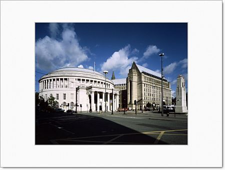 Central Library, St Peter's Square, Manchester. Photographed from the south in September 2000