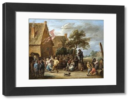 """APSLEY HOUSE, London. """"A Village Merrymaking at a Country Inn"""" by David TENIERS the younger (1610-90). WM 1499-1948"""