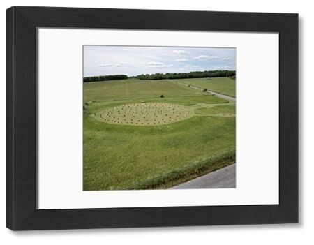 WOODHENGE, Wiltshire. Aerial view of the site looking West. Part of the Stonehenge World Heritage Site