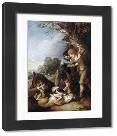 """KENWOOD HOUSE, THE IVEAGH BEQUEST, London. """" Two Shepherd Boys with Two Dogs Fighting """" c1783 by Thomas Gainsborough (1727-1788)"""